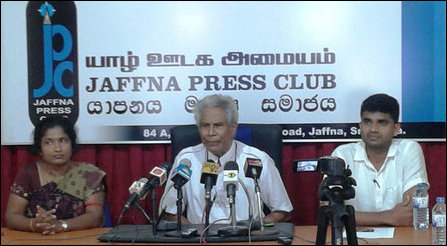 Press meeting in Jaffna