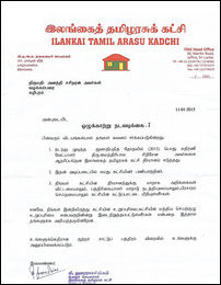 Interdiction letter sent to NPC Councillor Ananthy Sasitharan