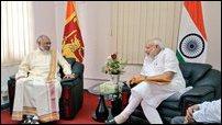 Mr Narendra Modi visits NPC Chief Minister C.V. Wigneswaran