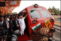 Indian PM giving green signal to railway service from Thalai-mannaar on Saturday