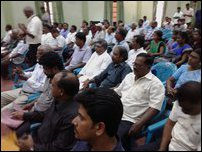 A section of the participants at the memorial event in Batticaloa