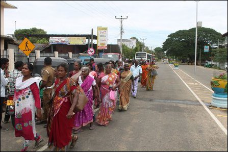 Moothoor protest by missing persons relatives