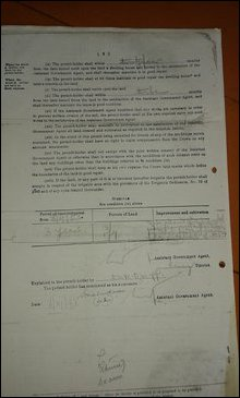 Land permit