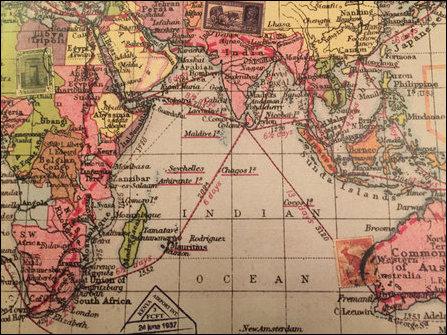 British maritime map