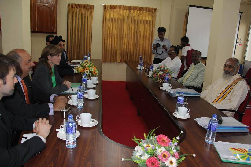 Samantha Power evades questions in Jaffna on Tamil genocide