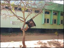 Black flag hoisted at University of Jaffna on February 04 'Sri Lanka' Independence Day