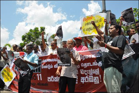 Colombo protest