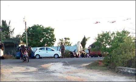 SL Police stationed at Chaampal-theevu