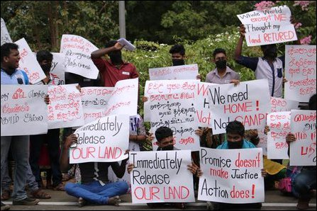 Protest in Vavuniyaa