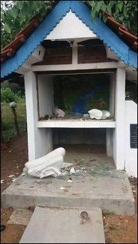 Buddha statue smashed in Kanakaraayan-ku'lam