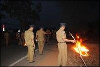 SL Police at Ki'linochchi
