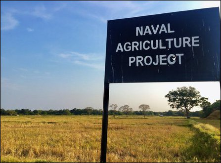 SL Navy occupied agricultural lands in Musali