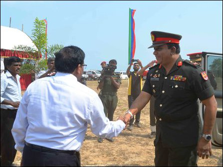 SL military commander in Jaffna at Oo'ra'ni