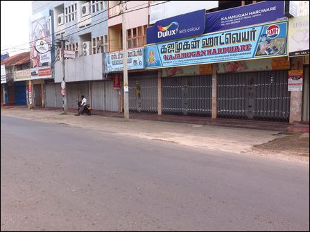Shut-down in Jaffna