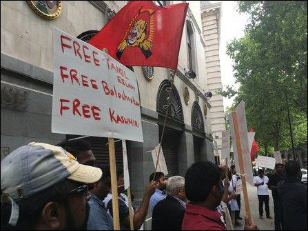 Tamil Youth in UK protest demanding release of Thirumurugan Gandhi
