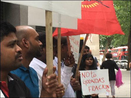 Tamil Youth in UK protest demanding release of Thirumurugan Gandhi
