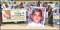 Families of Enforced Disappeared protest in Mannaar