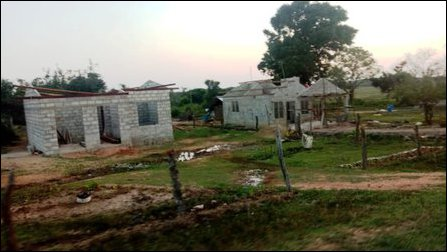 Huts put up by Sinhala settlers at Maalaanoor