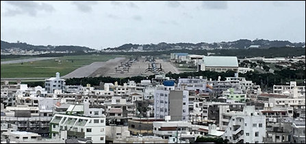 Futenma US air base on Okinawa