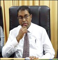 Saliya Peiris at the meeting held at Jaffna District Secretariat