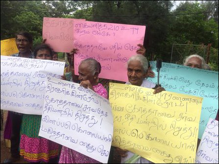 Protest against Gotabhaya in Jaffna