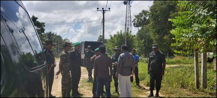 Shivajilingam confronted by SL Army at Kodikaamam