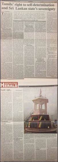 Sumanthiran article on North-Eastern Herald